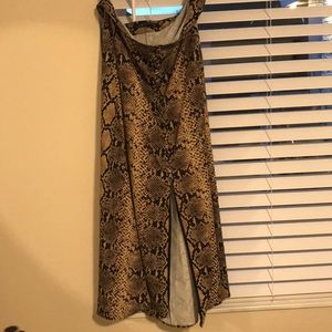 Snakeprint Midi Skirt